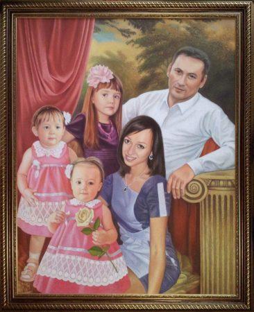 Семейный портрет маслом во Владикавказе — правильная традиция…