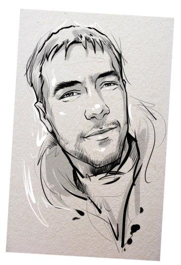 Портрет карандашом любимому мужу во Владикавказе…