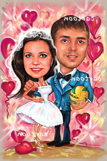 Свадебный шарж с оригинальным сюжетом во Владикавказе!