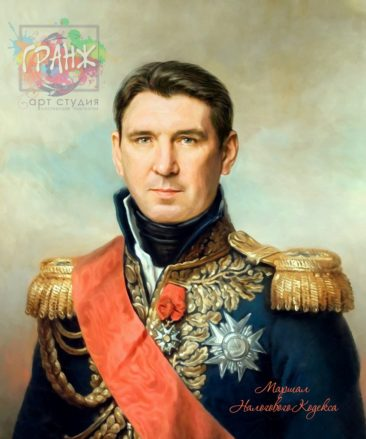 Портрет по фото на холсте в подарок мужчине на 23 февраля Владикавказ